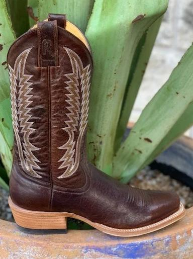 Ladies Handmade Chocolate Goat Hide Rod Patrick Western Boot - 15298