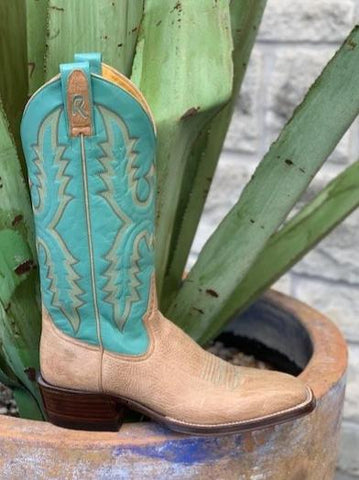 Ladies Handmade Aztec Shoulder Cowgirl Boot by Rod Patrick Bootmakers - 6144