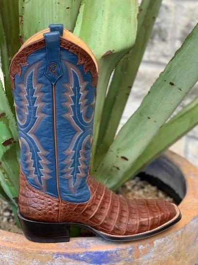 Ladies Western Handmade Cowgirl Boots in Caiman Alligator - 8568