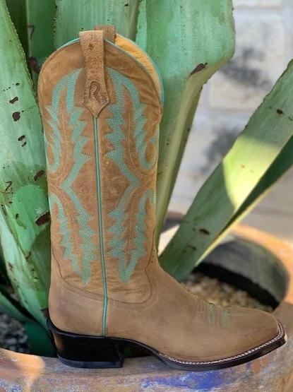 Ladies Handmade Rod Patrick Brown Square Toe boot - 8681RP
