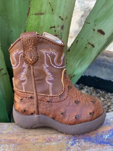 Cowboy Baby Infant Ostrich Roper Boot - 91619000807