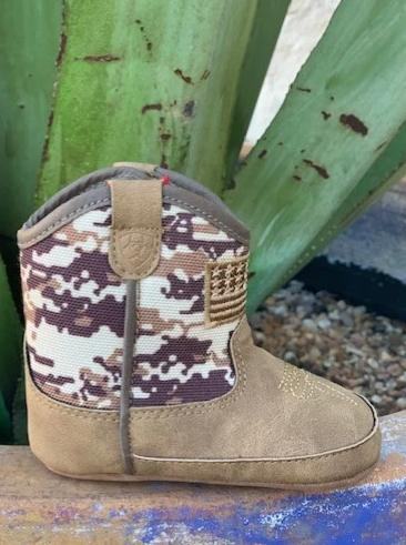 Ariat Lil' Stompers Cowboy Camouflage Infant Baby Boots - A442000044