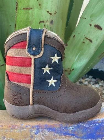 Cowboy Infant Baby Flag Boot - 91619020380
