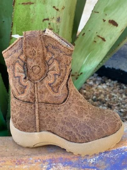 Cowboy Infant Baby Brown Zipper Boots - 916190065