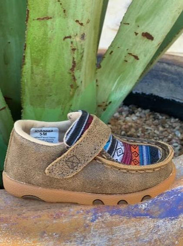 Twisted X Infant Baby Serape Moccasin - ICA0004