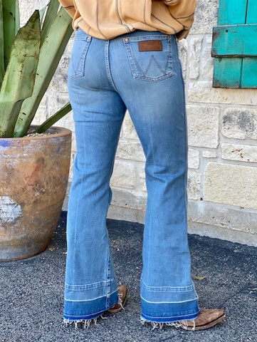 Ladies Wrangler Flare Boot cut Jeans - 11MPEFN - Blair's Western Wear Marble Falls, TX