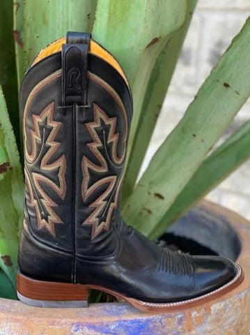 Handmade black western cowboy boot in narrow widths - 13100