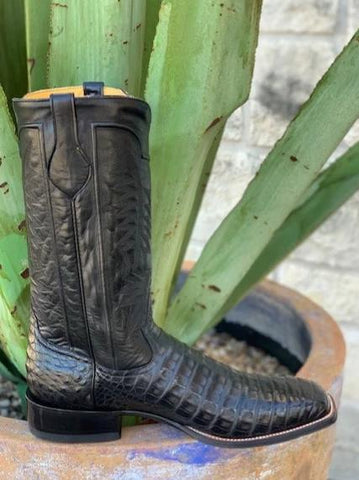 Handmade Exotic Caiman Alligator Cowboy Boots by Rod Patrick - 12341