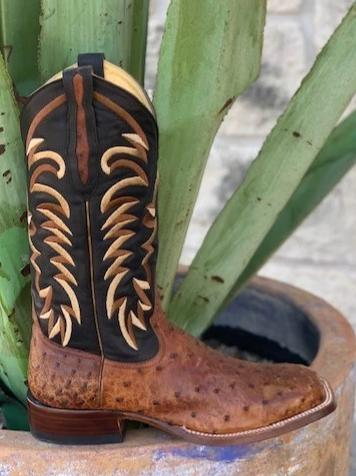 Men's Exotic Full Quill Ostrich Leather handmade cowboy boot by Rod Patrick - 13518