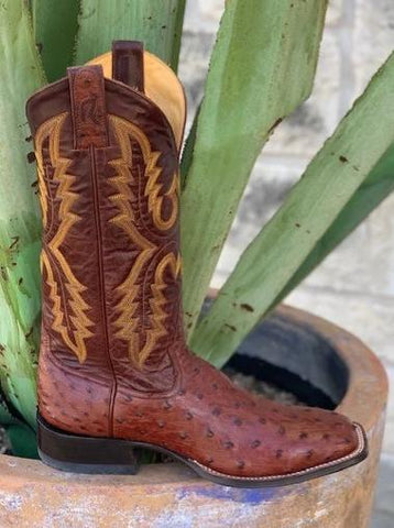 Men's Handmade Cowboy Full Quill Ostrich boots by Rod Patrick Bootmakers