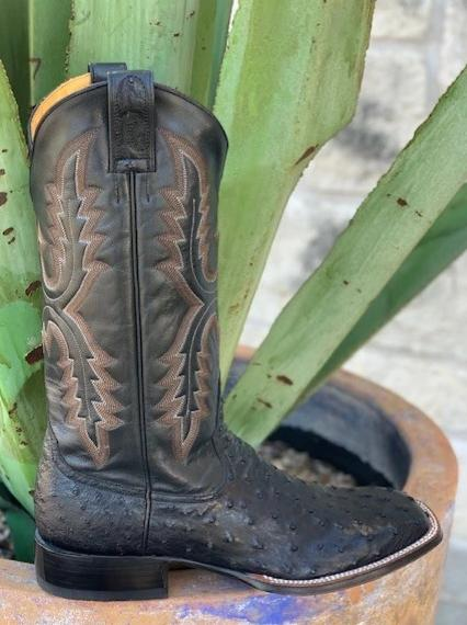 Men's Handmade Full Quill Ostrich Exotic western Rod Patrick boot - 8986