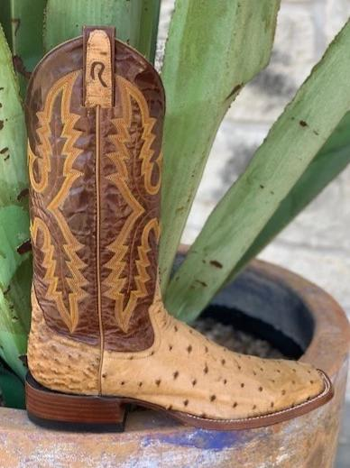 Men's Rod Patrick Exotic Full Quill Saddle Ostrich leather Western cowboy boots - 11870