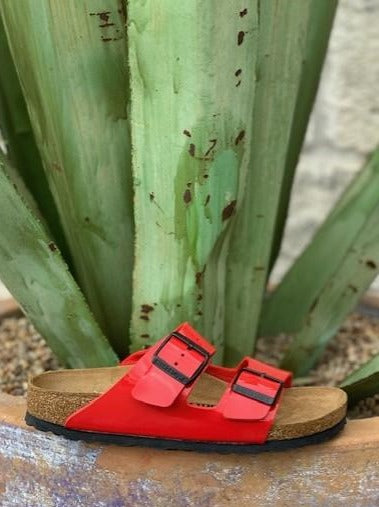 Ladies Red Patent Arizona Birkenstock - 1019426 - Blair's Western Wear Marble Falls, TX