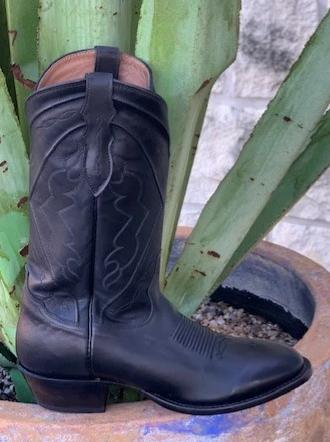 Traditional Men's Western Black Dress Boots by Tony Lama - C3021