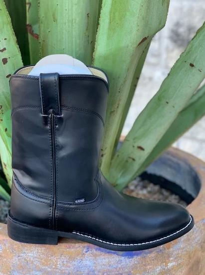 Justin Black Basic Ropers Dress Boots under a $100.00 - JB3000
