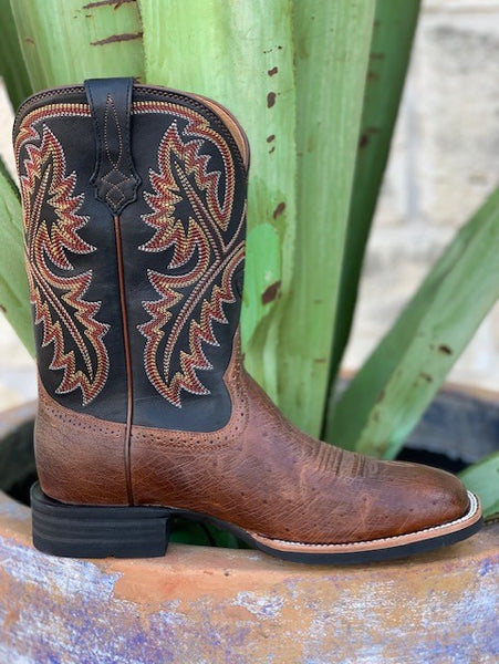Ariat Men's Belly Ostrich Square Toe Cowboy Boot - 10025172