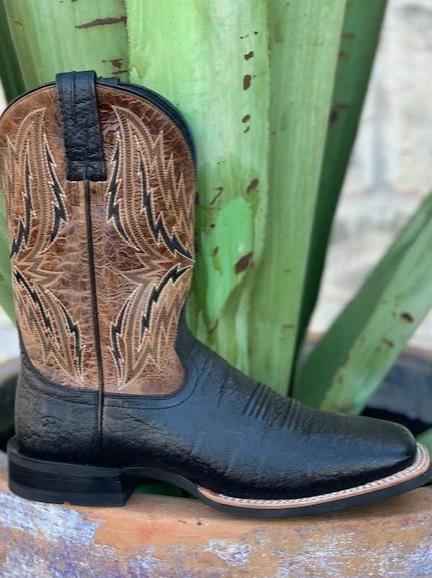 Black Men's Cowboy Dress square toe boot by Ariat - 10021678