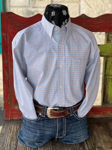 Men's Western Check Pattern Ariat Long Sleeve  - 10030734