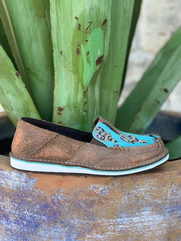 Ariat Women's Slip On Casual Turquoise & Brown Cactus Cruiser - 10027352