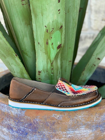 Ariat Women's Multi Colored Aztec Slip On Cruiser Shoes - 10029744