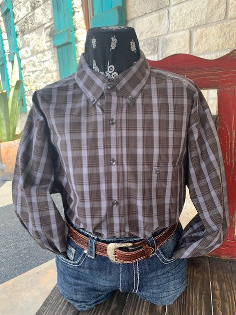 Men's Panhandle Slim Western button down Long Sleeve shirt - TCD9551