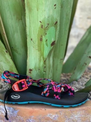 Chaco Women's Sandal Black, Pink & Turquoise - J107210