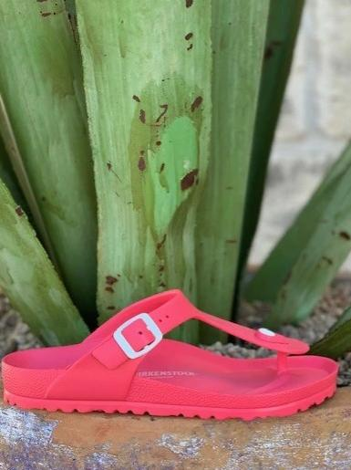 ladies hot pink gizeh birkenstock water shoe sandals - 1013096