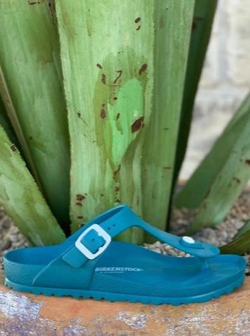 Ladies Birkenstock Gizeh turquoise water shoe sandals - 1013098