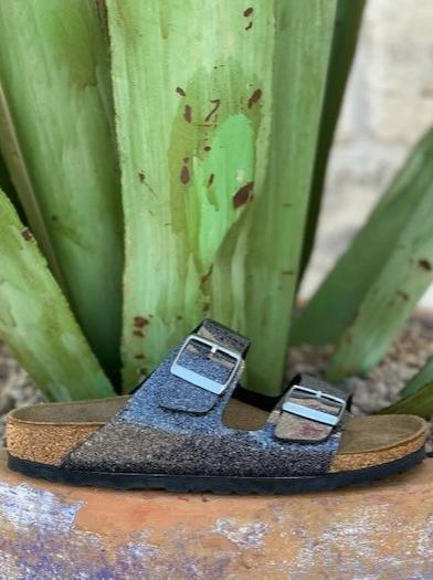 Ladies Birkenstock Arizona Cosmic Sparkle Anthracite Shimmer 1014385 Sandal