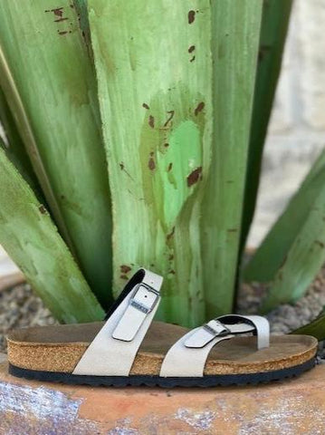 Ladies Birkenstock Vegan Off White Birkenstocks - 1009990