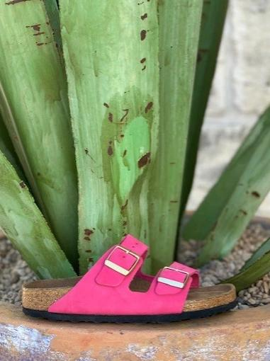 Arizona Ladies Pink Suede Birkenstock Sandal - 1011257