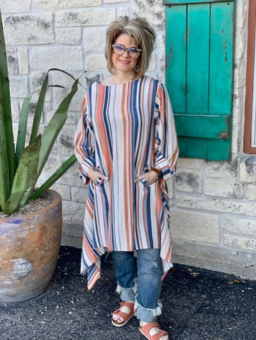 Ladies Ivy Jane Striped Dress or Tunic - 74409B