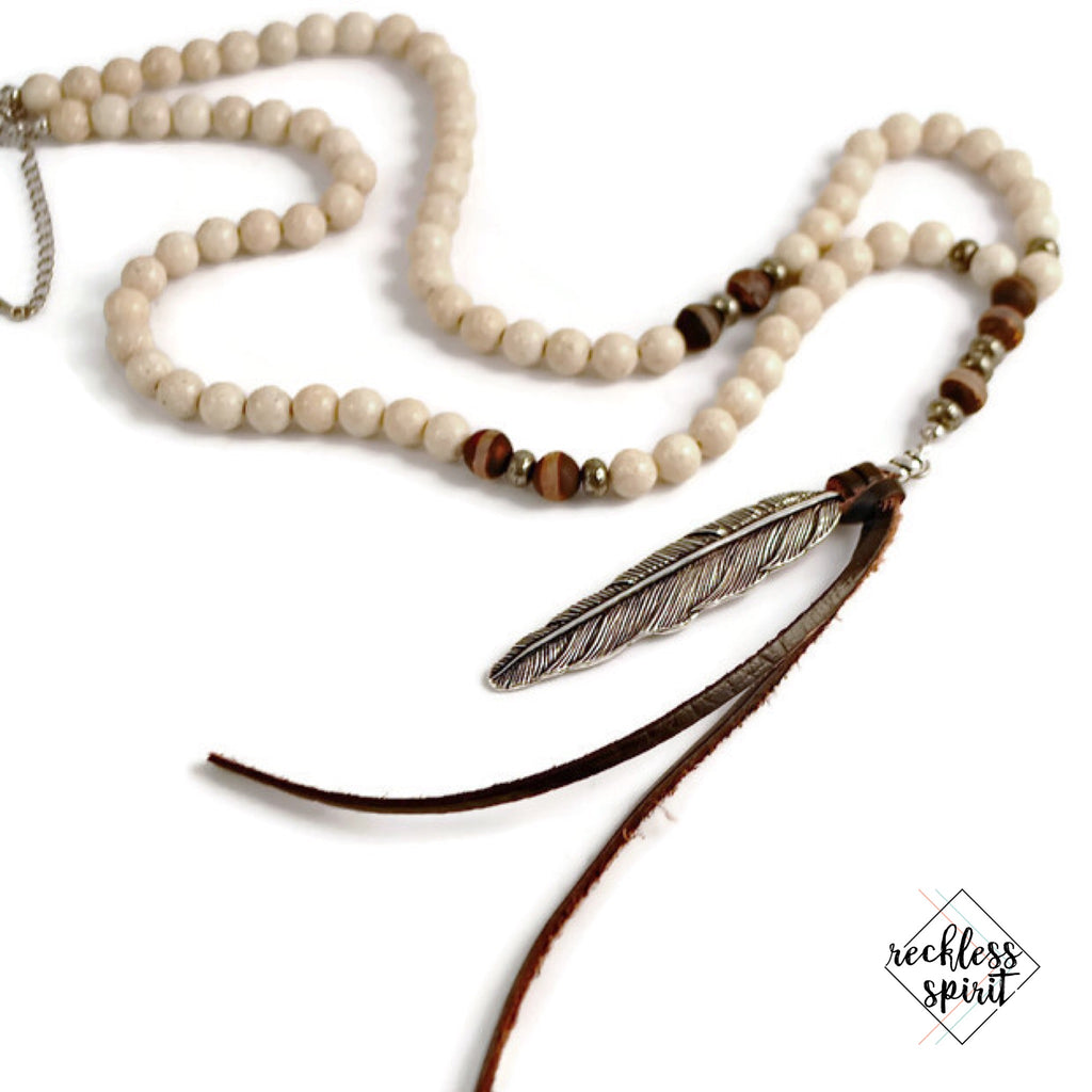 Whispering Hills Feather Necklace