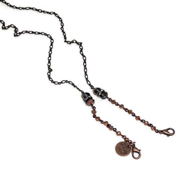 Copper Sunrise Chain Mask Holder Lanyard