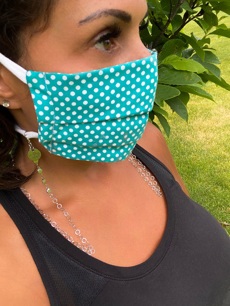 Tiny Bubbles Chain Mask Holder Lanyard