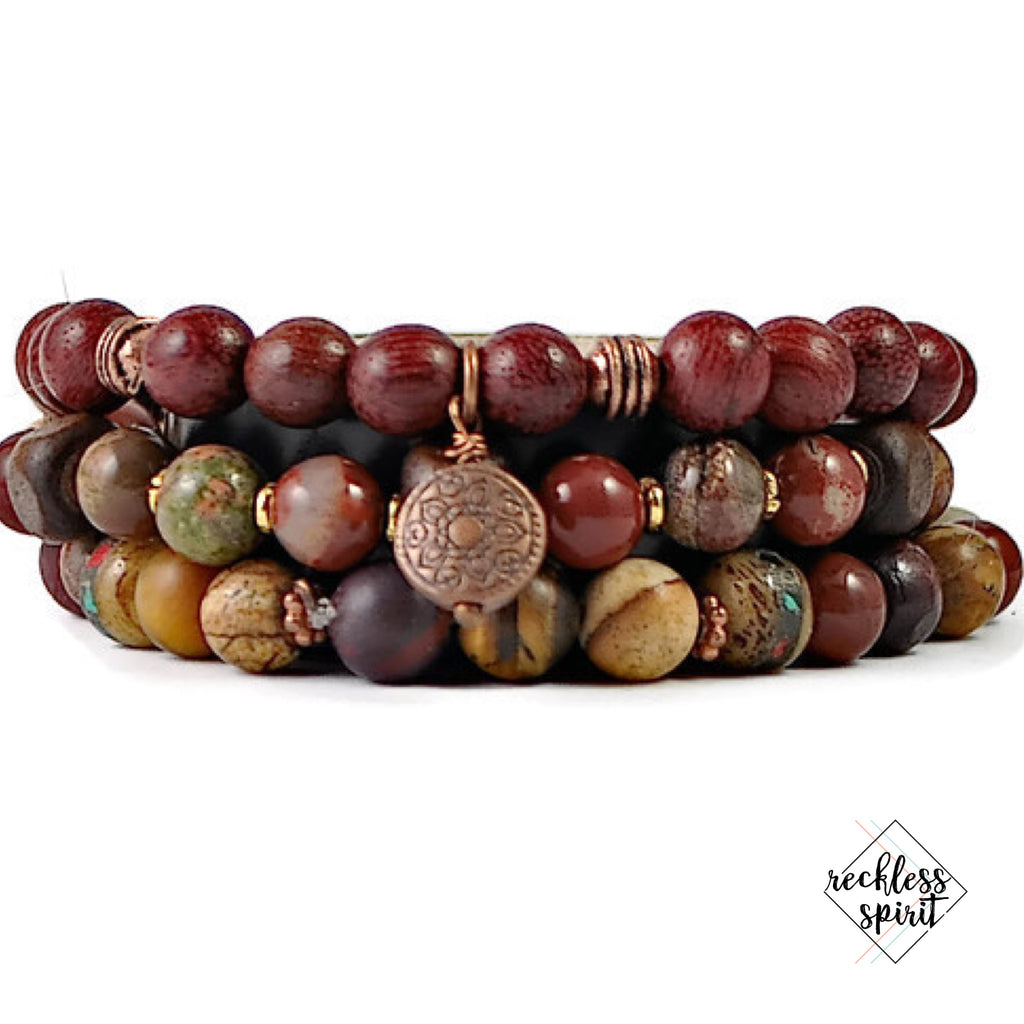 Earth Wind and Fire Bracelet Stack