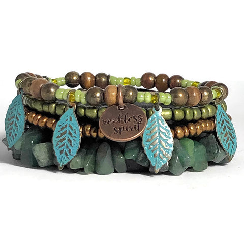 Falling Leaves Bracelet Stack One-of-a-Kind