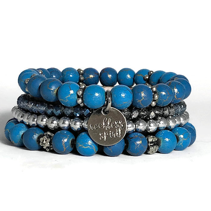 Deep Blue Sea Bracelet Stack One-of-a-Kind