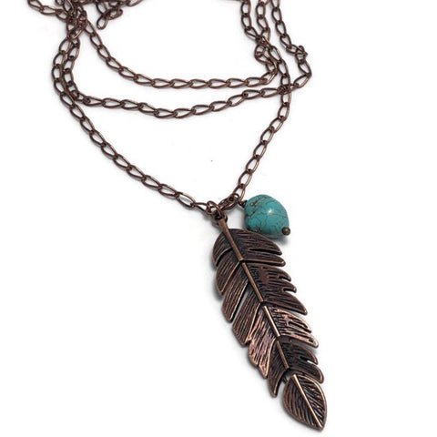 Beautifully Bold Amiya Feather Necklace