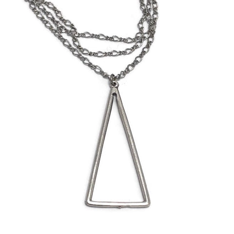 The Pointe Triangle Minimalist Necklace