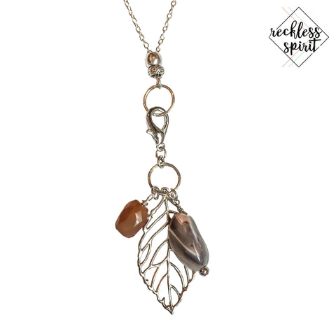 Autumn Aura Cluster Pendant Necklace