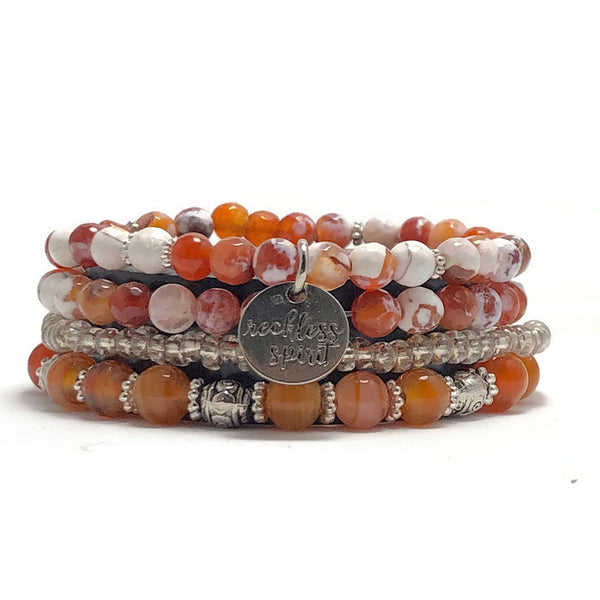 Tangerine Dreams Bracelet Stack One-of-a-Kind