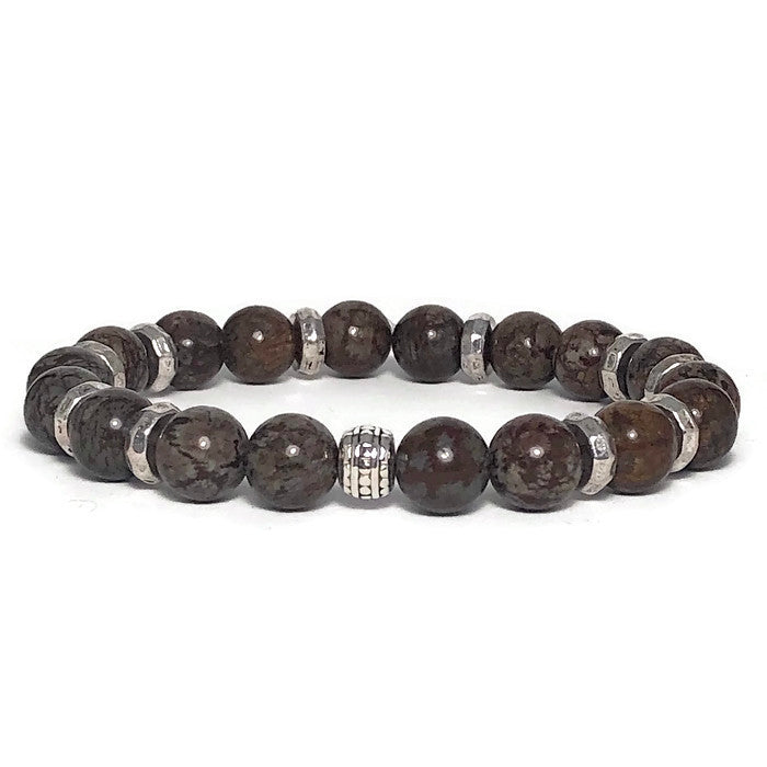 Casual Rainforest Agate Stretch Bracelet