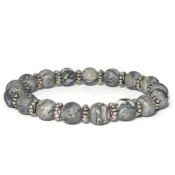 Frosted Picasso Womens Stretch Bracelet