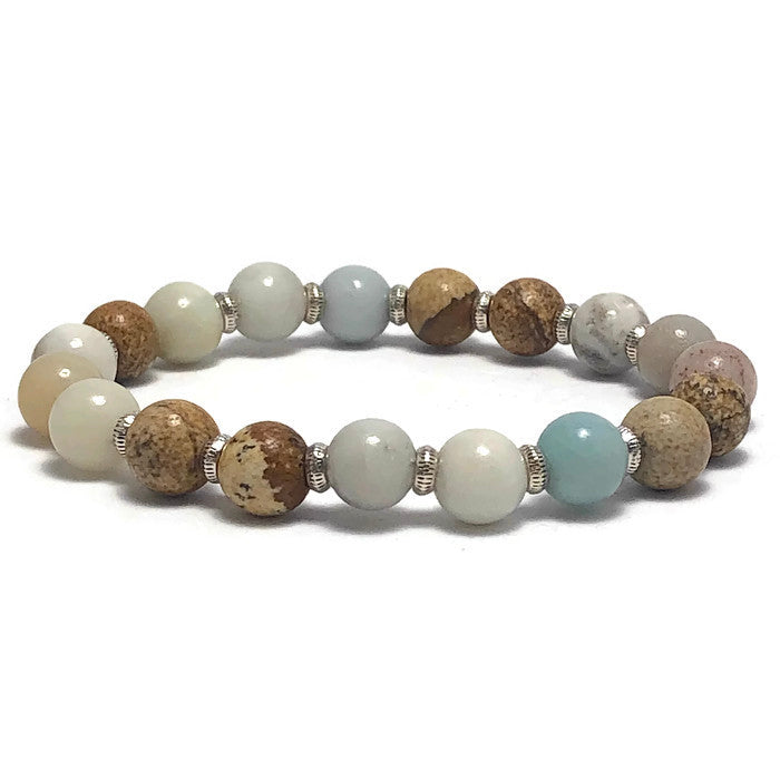 Let It Go Gemstone Cocktail Style 1 Stretch Bracelet