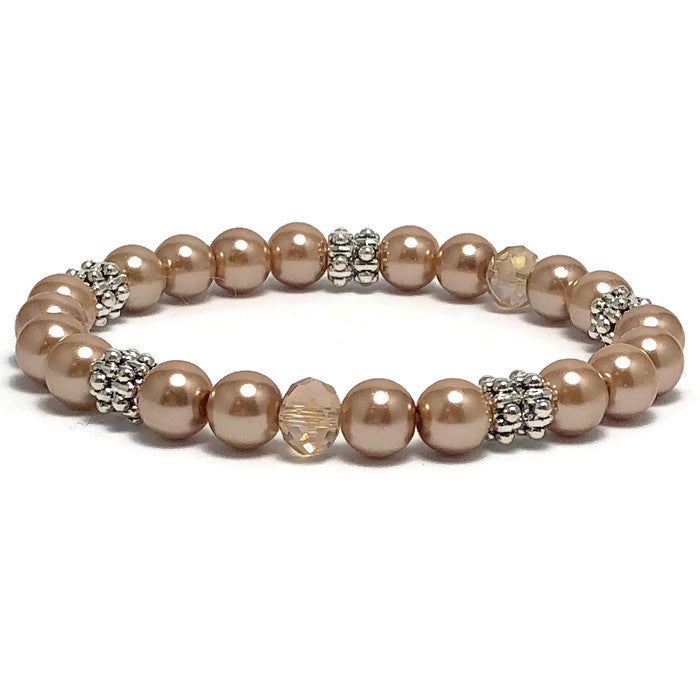 Pleasantly Pearl Stretch Bracelet