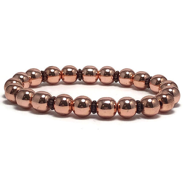 Twinkling Bright Rose Gold Womens Stretch Bracelet