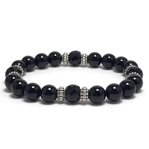 Basic Black Stretch Bracelet