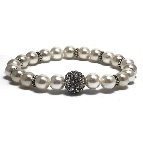 Night Out Freshwater Pearl Stretch Bracelet