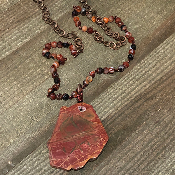 Red Creek Jasper Pendant Necklace